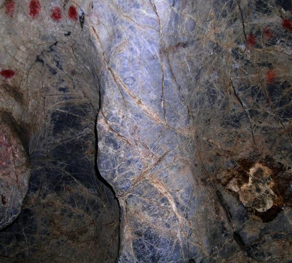 Cabeza de un bisonte que aprovecha el relieve natural de la pared. © Sergio Ríos. Principado de Asturias, Consejería de Cultura