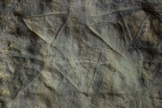 Signos triangulares de La Lluera II. © Sergio Ríos. Principado de Asturias, Consejería de Cultura