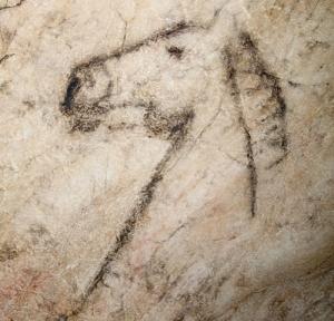 Caballo pintado en el Panel Principal. © Miguel de Guzmán. Principado de Asturias, Consejería de Cultura