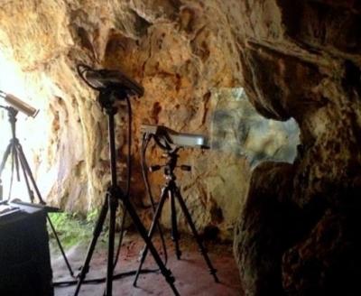 Recogida de datos mediante escaneado laser en La LLuera. © Soluciones 3D, fuente Cuevas de La Lluera