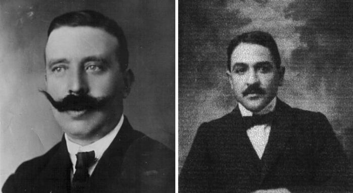 A la izquierda, Juan Cabré. A la derecha, Francisco Benítez Mellado