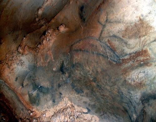 Caballo y uro en el Camarín de la Peña de Candamo. © Texnai, Principado de Asturias, Consejería de Cultura