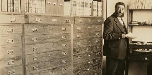 Eduardo Hernández-Pacheco, en el Museo de Ciencias Naturales.© CSIC