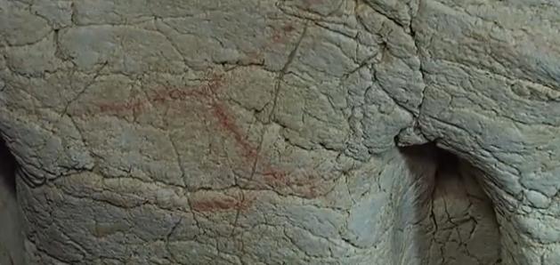 Pruneda: restos de pintura roja