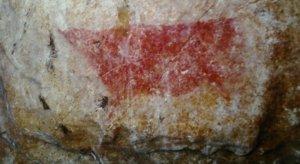 Representación acéfala de la cueva de Les Pedroses. © Javier Fortea, Principado de Asturias, Consejería de Cultura
