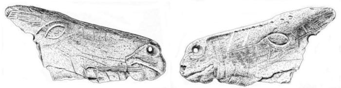La Viña: contorno recortado de caballo (dibujo)