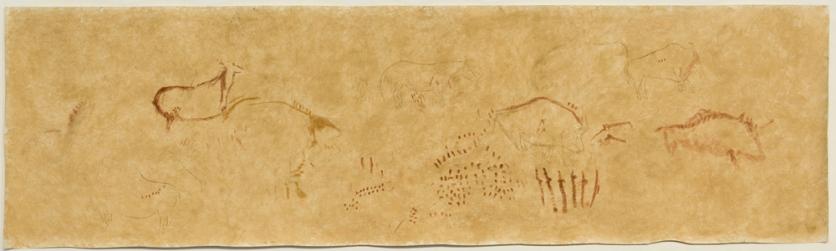 Reproducción de Benítez Mellado del panel principal de la cueva de El Pindal © Begoña Sánchez, IPC